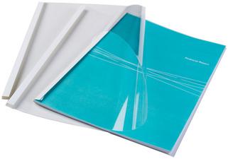 Auswahl 1,5-50,0 mm wei/ß // 20.0 mm wei/ß//transparent 10 Thermobindemappen DIN A4
